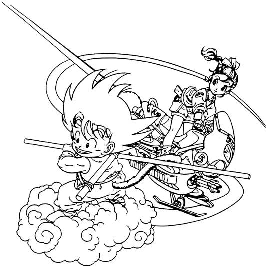 14 inspiring dragon ball gt coloring pages photo gft - Dragon Ball Goku Coloring Pages