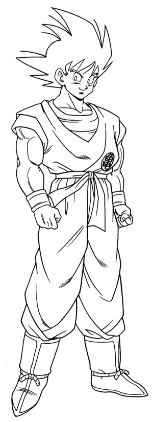 more dragon ball z coloring pages click here - Dragon Ball Goku Coloring Pages