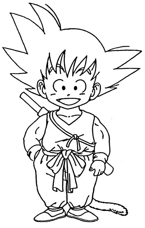 dragon ball z coloring pages | Dragon Ball Z Coloring Pages - Coloring Factory